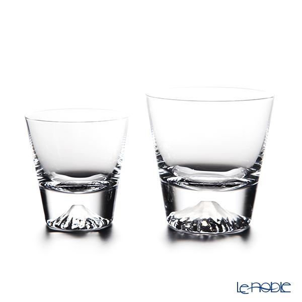 【伝統工芸】田島硝子 富士山グラス ロックグラス 大小 2点セット 【田嶌】【Fujiグラス】