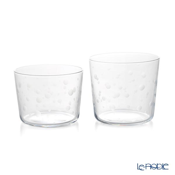 KIRI-KO 泡 awa 切子グラス(M)300ml & (S)230ml セット