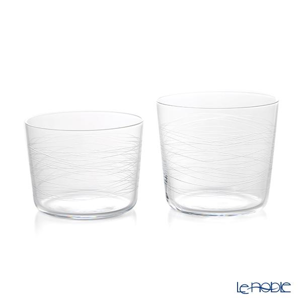 KIRI-KO 波 nami 切子グラス(M)300ml & (S)230ml セット