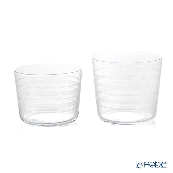 KIRI-KO 'Wa / Ring' Glass (M) 300ml & (S) 230ml (set of 2 size)