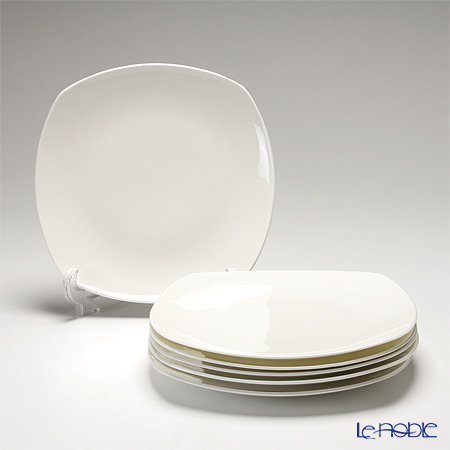 Primobianco 'White' Square Plate 26x26cm (set of 6)