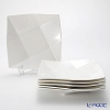 Primobianco 'White - Crease' Square Plate 23x23cm (M / set of 6)