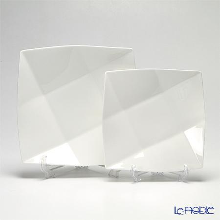 プリモビアンコ 白の器 スクエアディーププレートセット