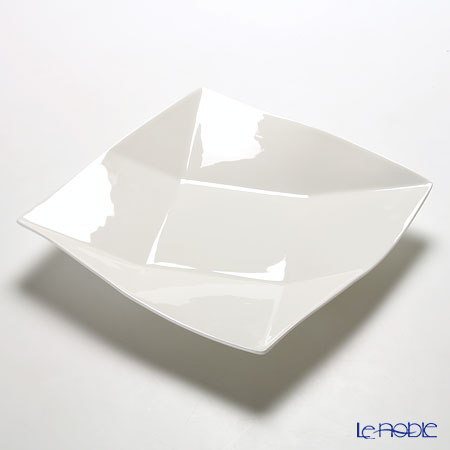 Primobianco 'White - Crease' Square Plate (set of 12 for 6 persons / 2 size)