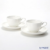 Primobianco 'White' Flower shape Tea Cup & Saucer 150ml (set of 2)
