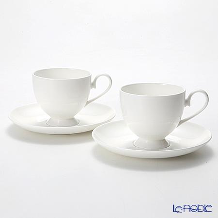 プリモビアンコ 白の器 コーヒーカップ&ソーサー(フーテッドシェイプ) ペア