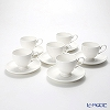 Primobianco Footed shape Coffee cup & saucer 6 pcs.