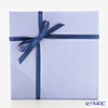 Wrapping Paper with Ribbon Blue Stripe