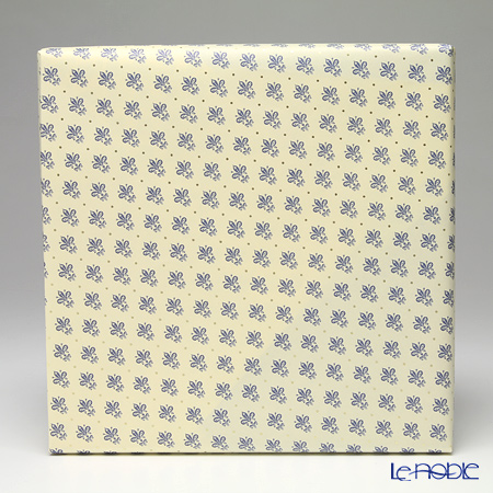 Gift 'Lily (Fleur-de-lis)' Blue Wrapping Paper with Cross Ribbon