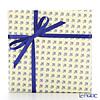 Wrapping Paper with Ribbon Lily (fleur-de-lis) Blue