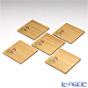 TAKANO CHIKKO 5 pcs cedar mini plate set (iris decor)