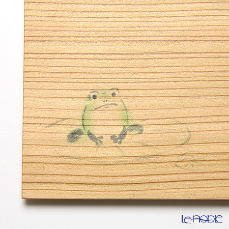 Takano Chikko / Cedar Craft 'Frog' Square Flat Plate 10x10cm (set of 5)