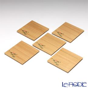 高野竹工 杉小皿 はす 5枚セット 112-06