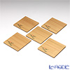 TAKANO CHIKKO 5 pcs cedar mini plate set (Lotus flower motif)