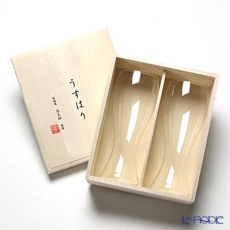 松徳硝子 うすはり 2501001ピルスナーSC ペア 【木箱入】