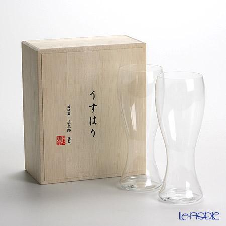 松徳硝子 うすはり 2501001 ピルスナーSC ペア 【木箱入】