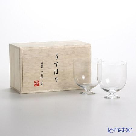 松徳硝子 うすはり ワイン(M) ペア 【木箱入】
