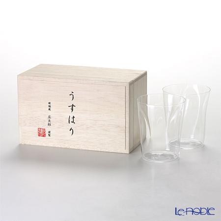 松徳硝子 うすはり SHIWA オールド(M) ペア 【木箱入】