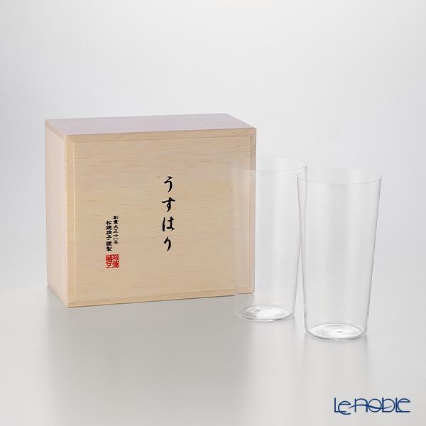 松徳硝子 うすはり タンブラー(L) ペア 【木箱入】