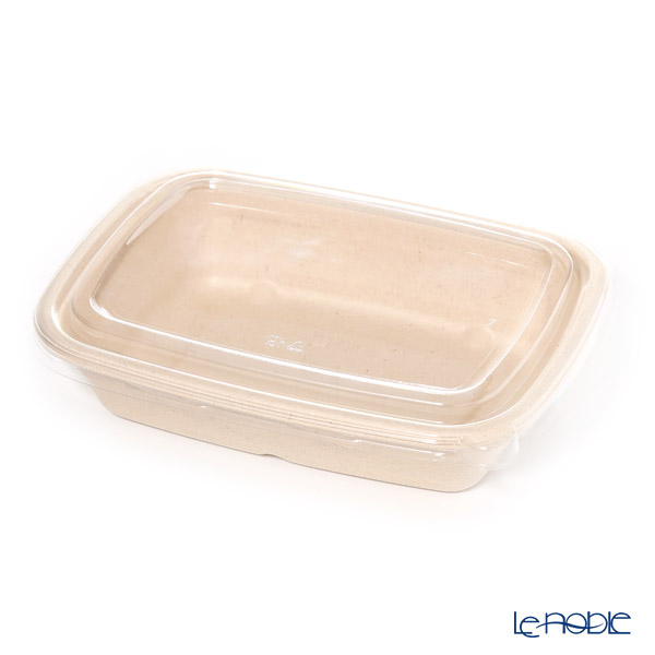 Sabart Eco Plate MP48632D300 & TFA51841D3 6 x 8.5 Deep tray (pulp) with lid (the lid is plastic) 15 pieces