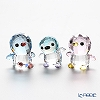 Swarovski Penguin dad & mom & your brother PACO 3-piece set