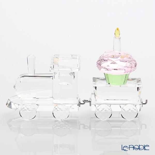 スワロフスキー 機関車&カップケーキのワゴン お誕生日のお祝いセット