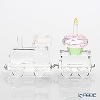 Swarovski institutions wagon car & cupcakes 1-year-old birthday celebration set