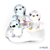 Swarovski Penguin dad & mom & your brother PACO With the three-point set display stand