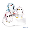 Swarovski Penguin dad & mom & sister Patty With the three-point set display stand