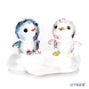 Swarovski Penguin dad & MOM Two-point set display stand
