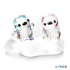 Swarovski Penguin brother PACO & sister Patty Two-point set display stand