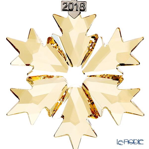 Swarovski 'Christmas Ornament - Gold Snowflake' [2018] Home Display (set of 3)
