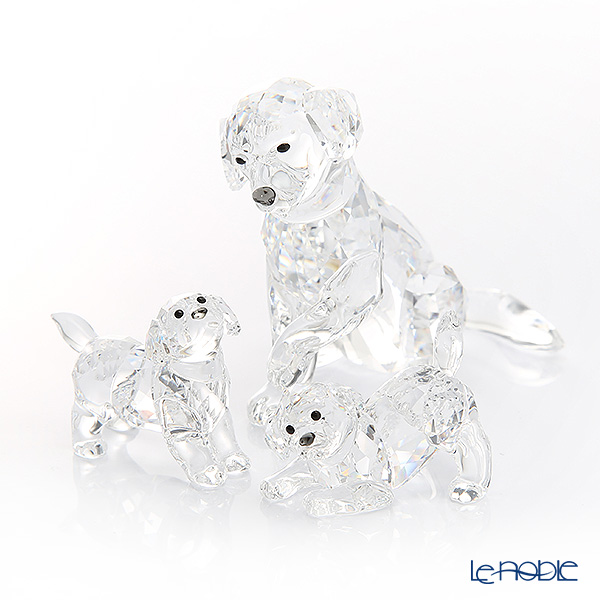 Swarovski 'Labrador Family (Dog)' Figurine (set of 3)