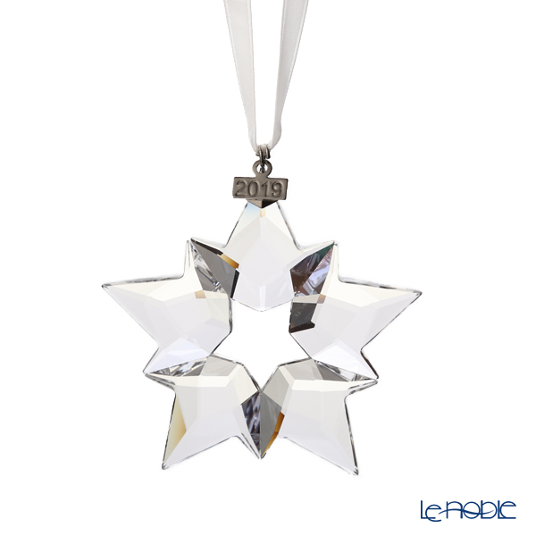 Swarovski 'Christmas Ornament - Little Star & Ball (Snowflake)' [Annual Edition 2019] SWV5427990&SWV5453636&SWV5191356 Home Display (set of 3)