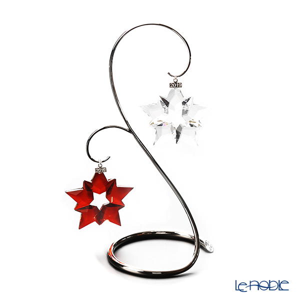 Swarovski 'Christmas Ornament - Star (Clear / Red)' [Annual Edition 2019] Home Display (set of 3)