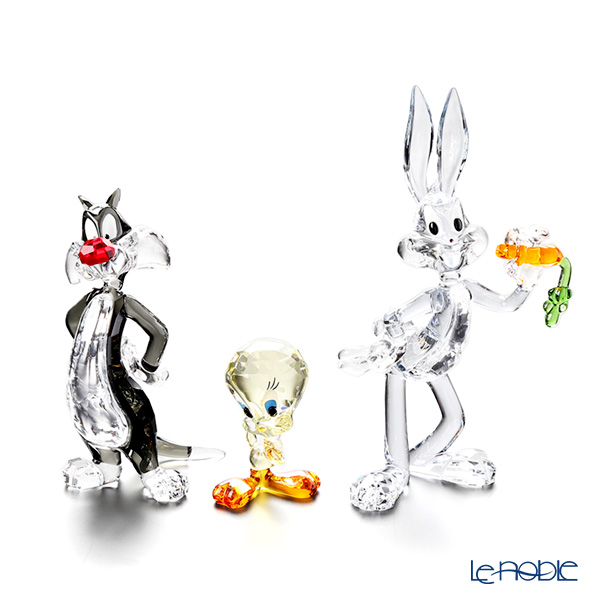 Swarovski 'Warner Bros - Sylvester, Tweety, Bugs Bunny (Cat, Bird, Rabbit)' [2019] Figurine (set of 3)
