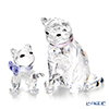 Swarovski 'Cat Mother with Kitty (Animal Family)' [2019] Figurine (set of 2)