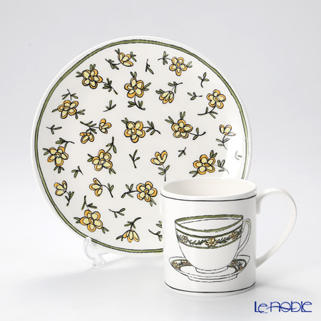 Twig New York Heritage Plate and Mug, yellow daisy