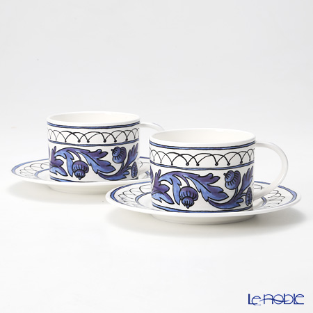 Twig New York Heritage Cup & Saucer set of 2, blue bird