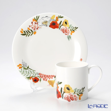 Twig New York Language of Flowers Plate and Mug, bouquet