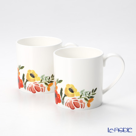 Twig New York Language of Flowers Mug, bouquet set of 2