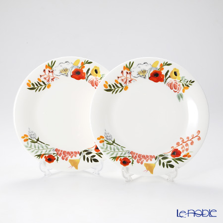 Twig New York Language of Flowers Plate 21 cm, bouquet set of 2