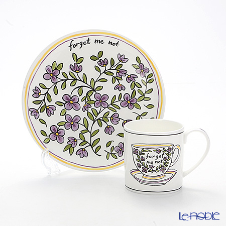 Twig New York Heritage Plate & Mug, for-get-me-not
