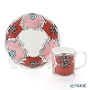 Twig New York 'Always' Camille (Pink / Red) Plate & Mug (set of 2 for 1 person)