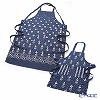 Ulster Weavers 'Sophie Conran - Eszter' Blue Cotton Adjustable Apron & Child's Apron (set of 2)