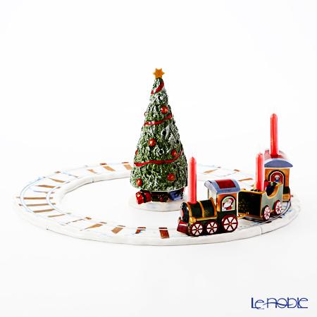 ビレロイ&ボッホ(Villeroy&Boch) ノースポールエクスプレス クリスマスツリー&トレインウィズトラック キャンドルホルダー