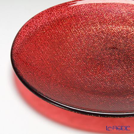Vetro Felice 'Glitter' Red Plate 14cm (set of 4)