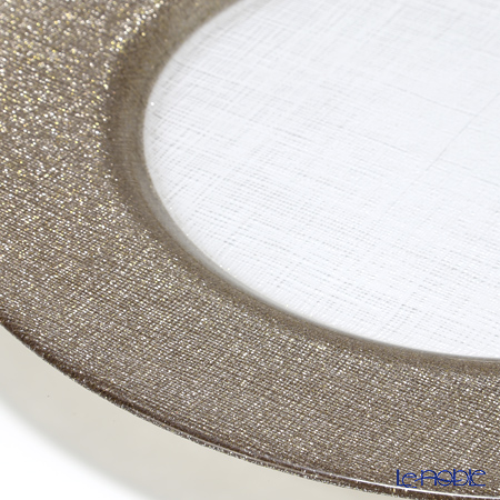 Vetro Felice 'Glitter' Ginger Charger Plate 33cm (set of 6)