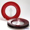 Vetro Felice 'Glitter' Red Charger Plate 33cm (set of 6)