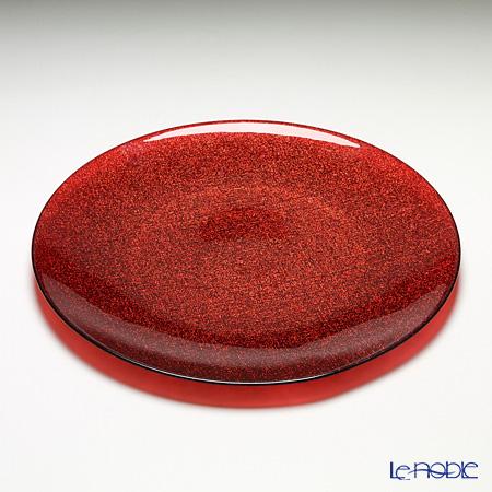 Vetro Felice 'Glitter' Red Plate 35cm (set of 6)